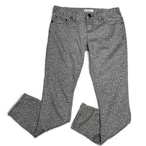 Free People Pants - Free People Gray Lace Skinny Ankle Zip Ankle Pants